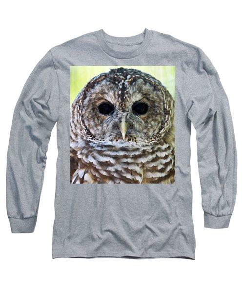 Barred Owl Closeup Long Sleeve T-Shirt