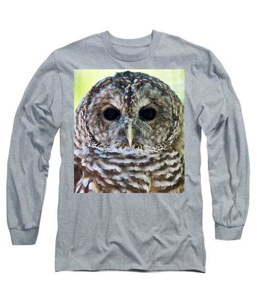 Barred Owl Closeup Long Sleeve T-Shirt