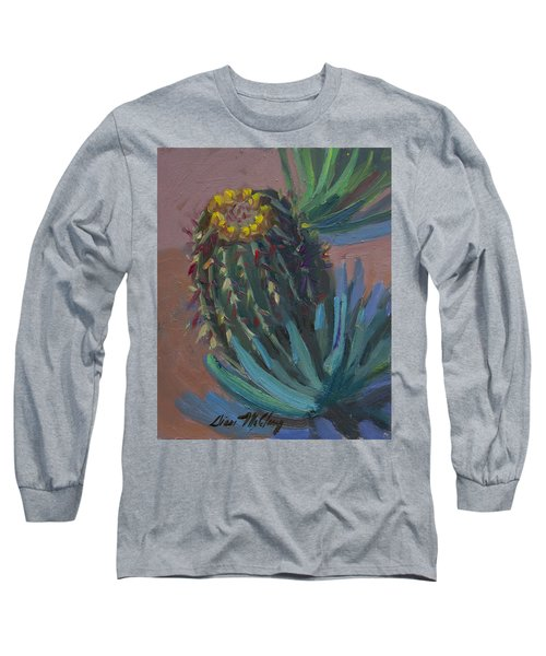 Barrel Cactus In Bloom - Boyce Thompson Arboretum Long Sleeve T-Shirt