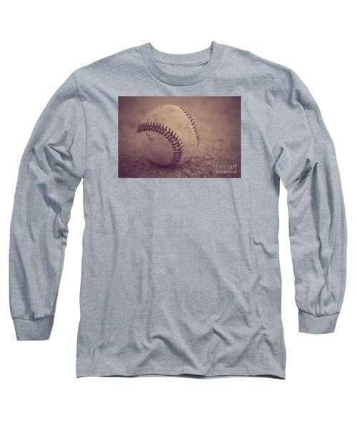 Baseball In Sepia Long Sleeve T-Shirt