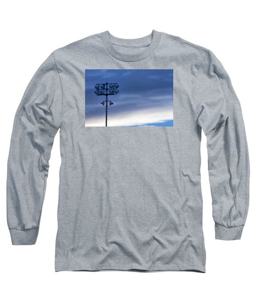 Long Sleeve T-Shirt featuring the photograph Baseball Lights by Joan Bertucci