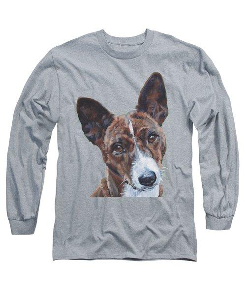 Basenji Dog Painting Long Sleeve T-Shirt