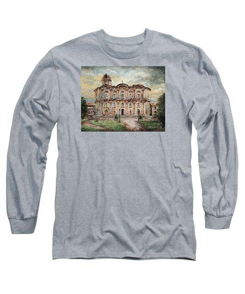 Basilica De San Martin De Tours Long Sleeve T-Shirt by Joey Agbayani