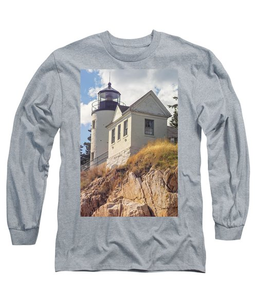 Bass Harbor Light Photo Long Sleeve T-Shirt