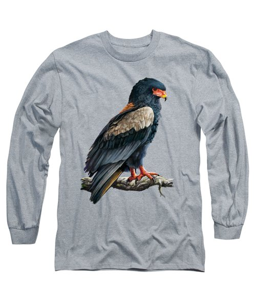 Long Sleeve T-Shirt featuring the painting Bateleur Eagle by Anthony Mwangi