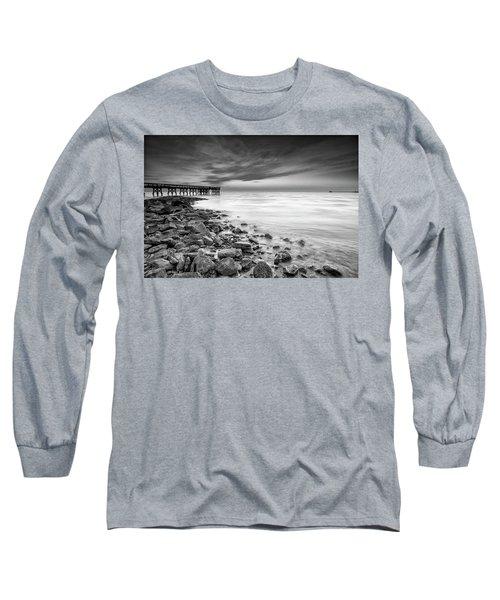 Bathe In The Winter Sun Long Sleeve T-Shirt by Edward Kreis