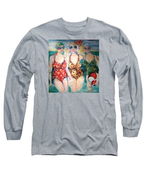 Bathing Beauties  Long Sleeve T-Shirt by Heather Roddy