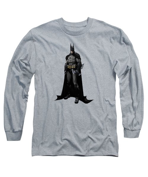 Long Sleeve T-Shirt featuring the mixed media Batman Splash Super Hero Series by Movie Poster Prints