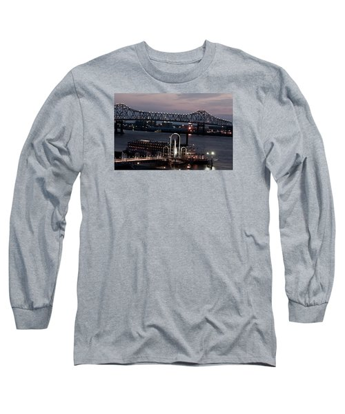 Baton Rouge Bridge Long Sleeve T-Shirt by Helen Haw