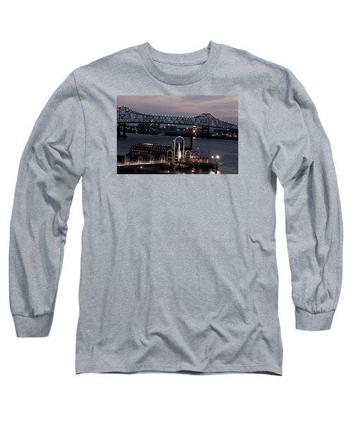Long Sleeve T-Shirt featuring the photograph Baton Rouge Bridge by Helen Haw