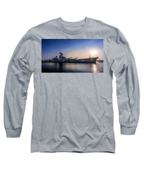 Long Sleeve T-Shirt featuring the photograph Battleship New Jersey by Marvin Spates