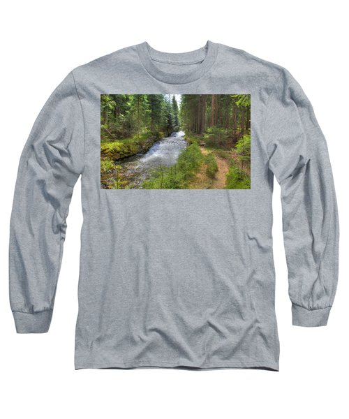 Bavarian Forest Stream Long Sleeve T-Shirt