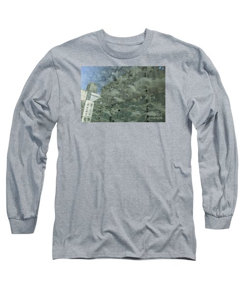 Long Sleeve T-Shirt featuring the photograph Bay City Reflections by Jeanette French