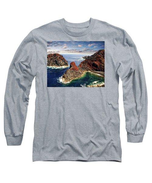 Bay Of Ponta Da Barca Long Sleeve T-Shirt by Anthony Dezenzio