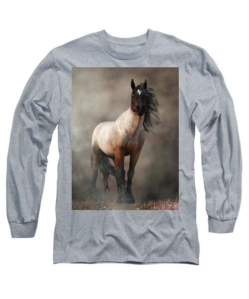 Bay Roan Horse Art Long Sleeve T-Shirt
