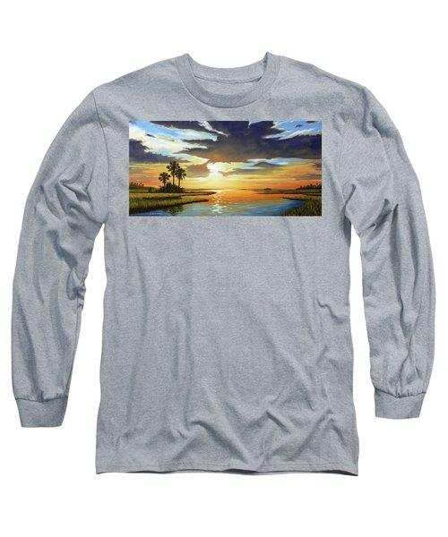 Bay Sunset Long Sleeve T-Shirt by Rick McKinney