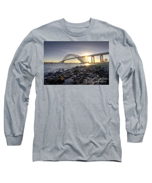 Bayonne Bridge Sunset Long Sleeve T-Shirt