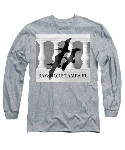 Bayshore Tampa Florida Long Sleeve T-Shirt by David Lee Thompson
