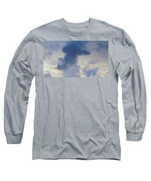 Blue Bunny Cloud  Long Sleeve T-Shirt