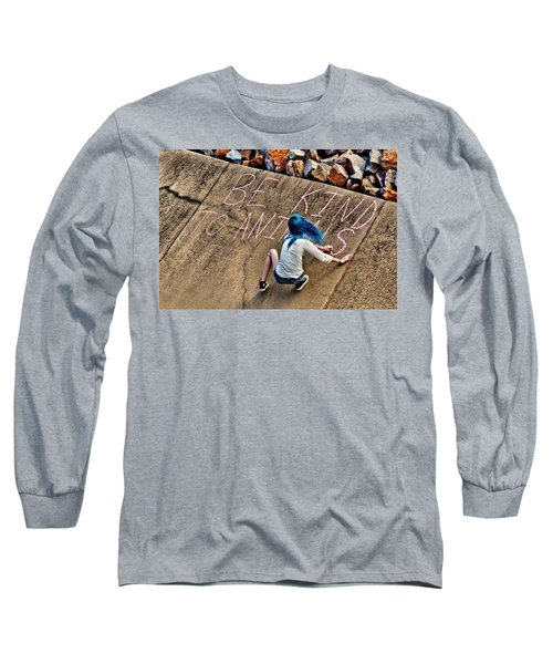 Long Sleeve T-Shirt featuring the photograph Be Kind To Animals by Linda Unger