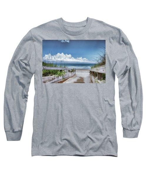 Beach Access Long Sleeve T-Shirt by Phil Mancuso