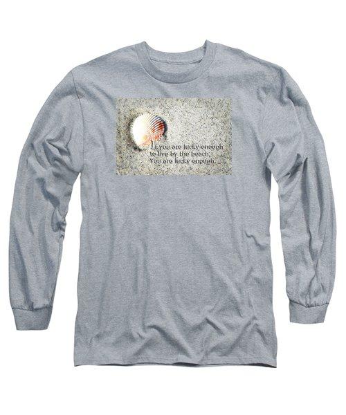 Beach Art - Lucky Enough - Sharon Cummings Long Sleeve T-Shirt