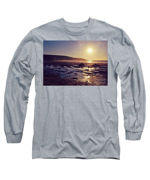 Long Sleeve T-Shirt featuring the photograph Beach At Sunset by Lyn Randle