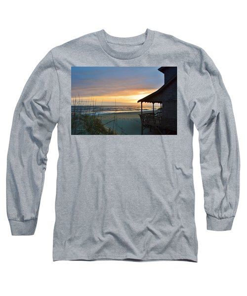Beach Cottage Sunrise  Long Sleeve T-Shirt