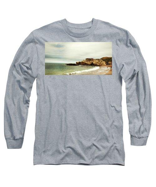 Beach Day At Montana De Oro Inspooner's Cove San Luis Obispo County California Long Sleeve T-Shirt