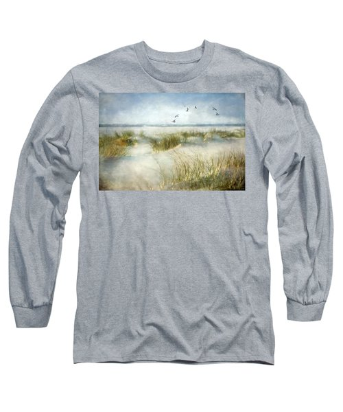 Long Sleeve T-Shirt featuring the photograph Beach Dreams by Annie Snel