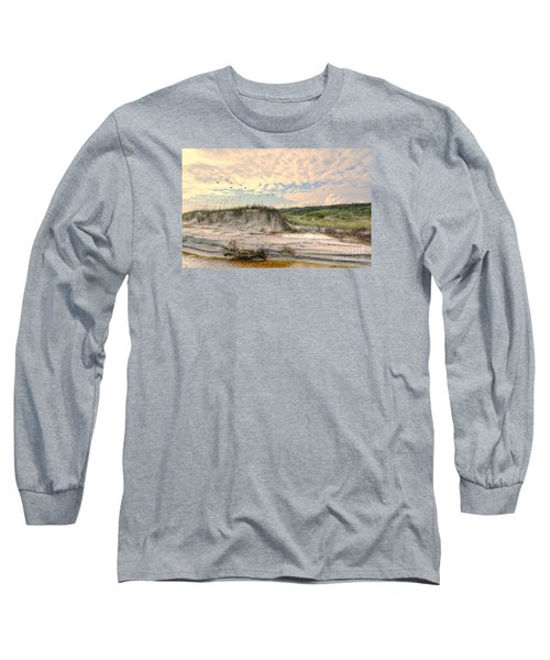 Beach Dunes And Gulls Long Sleeve T-Shirt