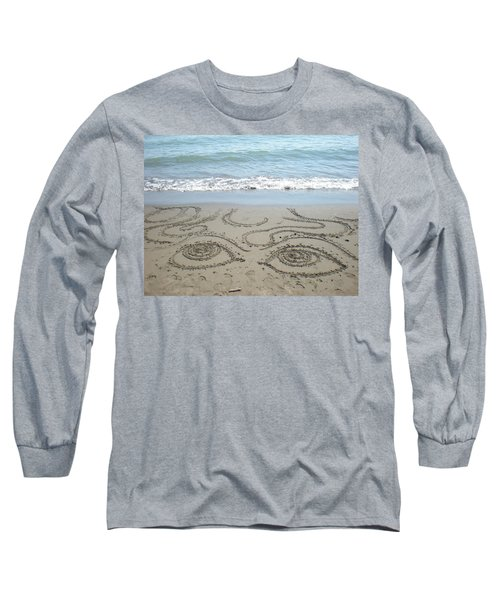 Beach Eyes Long Sleeve T-Shirt by Kim Prowse