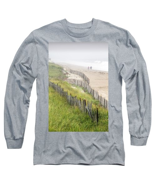 Beach Fences In A Storm Long Sleeve T-Shirt by Betty Denise