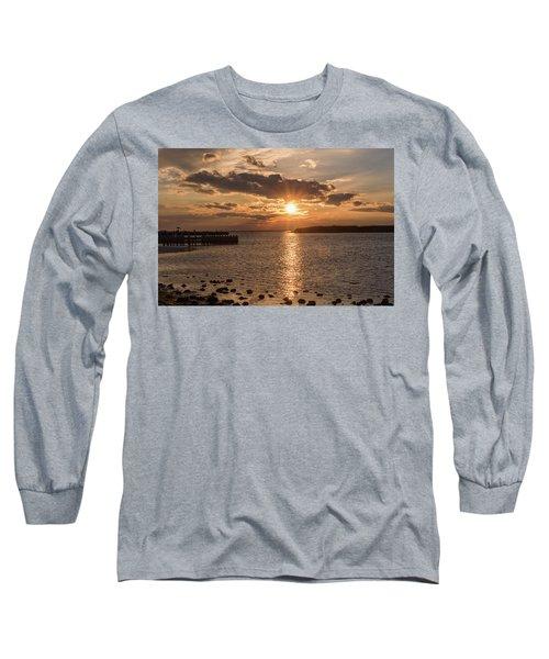 Beach Haven Nj Sunset January 2017 Long Sleeve T-Shirt
