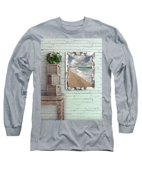 Long Sleeve T-Shirt featuring the photograph Beach House By Kaye Menner by Kaye Menner
