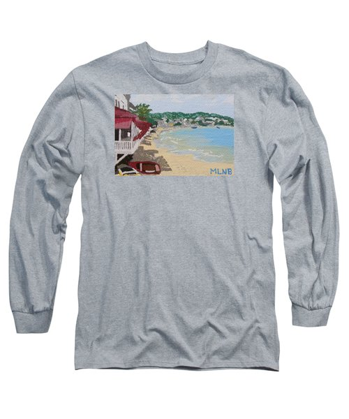 Beach In Grand Case Long Sleeve T-Shirt by Margaret Brooks