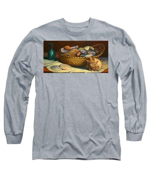 Beach Peace Long Sleeve T-Shirt by Dorothy Allston Rogers