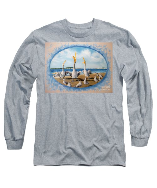 Long Sleeve T-Shirt featuring the painting Beach Platoon by Sigrid Tune