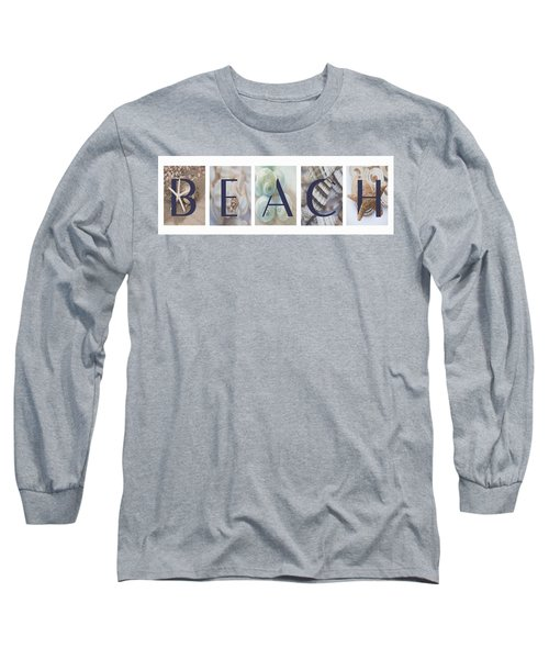 Long Sleeve T-Shirt featuring the photograph Beach by Robin-Lee Vieira