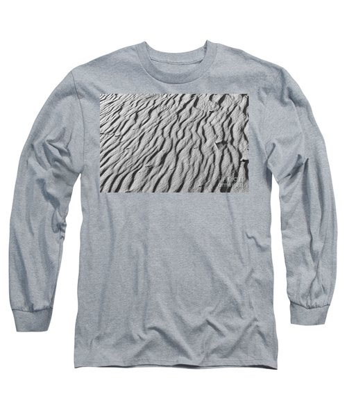 Beach Sand Mantle In Monochrome Long Sleeve T-Shirt