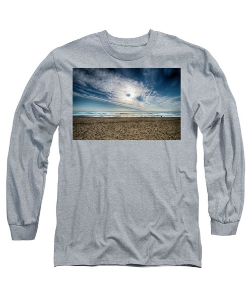 Beach Sand With Clouds - Spiagggia Di Sabbia Con Nuvole Long Sleeve T-Shirt