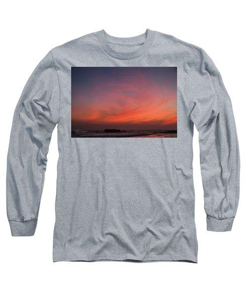 Beach Sky Blaze Long Sleeve T-Shirt