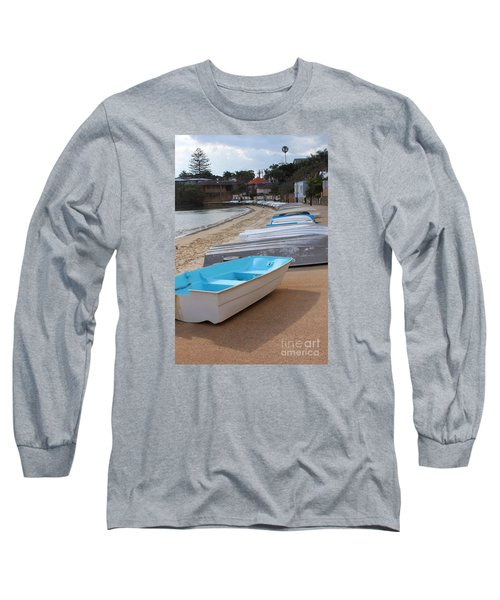 Beached Boats Long Sleeve T-Shirt by Bev Conover