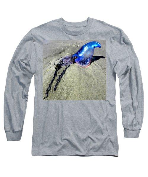 Beached Jellyfish 000 Long Sleeve T-Shirt by Chris Mercer
