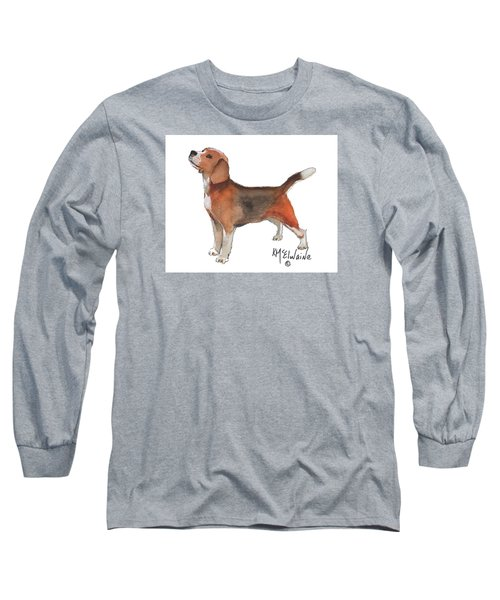 Beagle Watercolor Painting By Kmcelwaine Long Sleeve T-Shirt