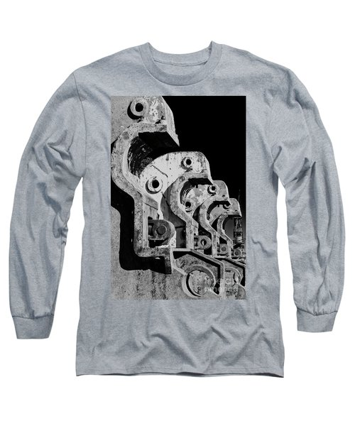 Long Sleeve T-Shirt featuring the photograph Beam Bender - Bw by Werner Padarin