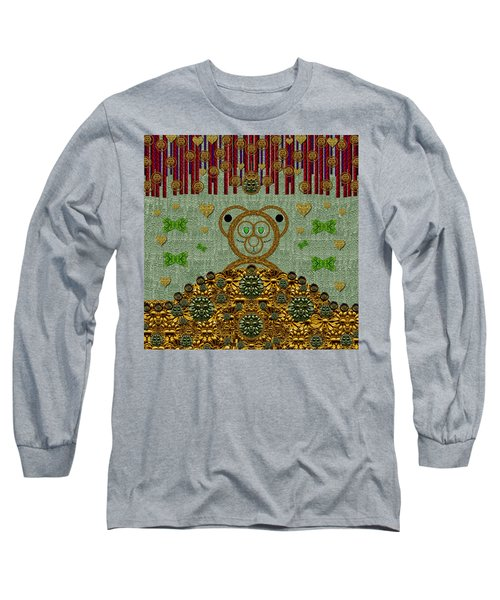 Bear In The Blueberry Wood Long Sleeve T-Shirt