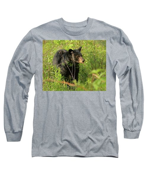 Long Sleeve T-Shirt featuring the photograph Bear In The Grass by Coby Cooper