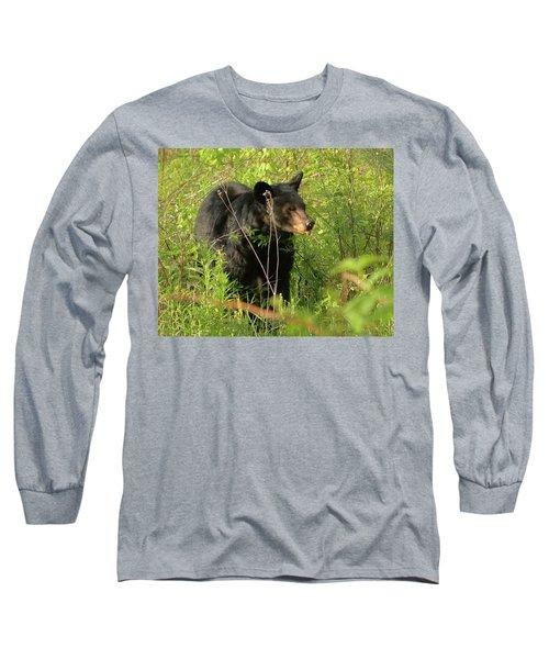 Bear In The Grass Long Sleeve T-Shirt