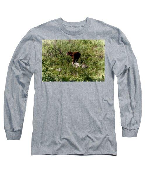 Bear2 Long Sleeve T-Shirt by Loni Collins